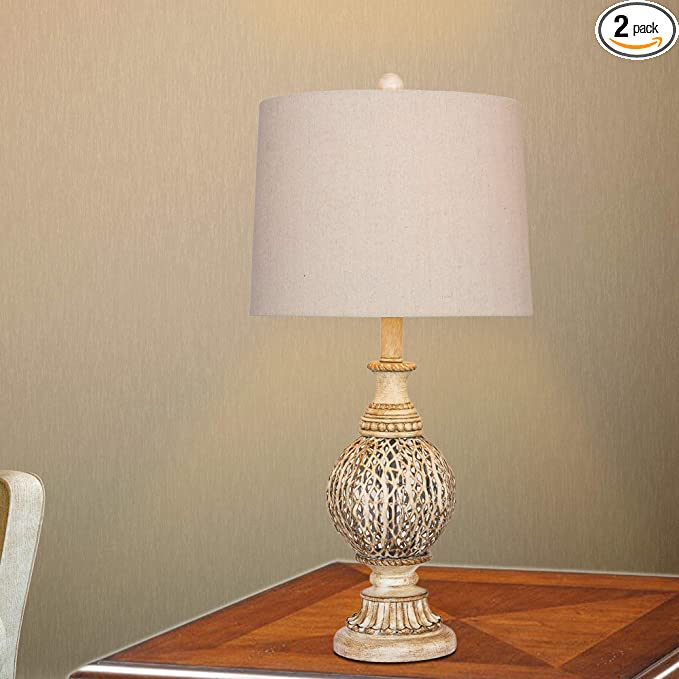Cory Martin W-6253-2PK Table Lamp 27.5 Antique White Fangio Lighting