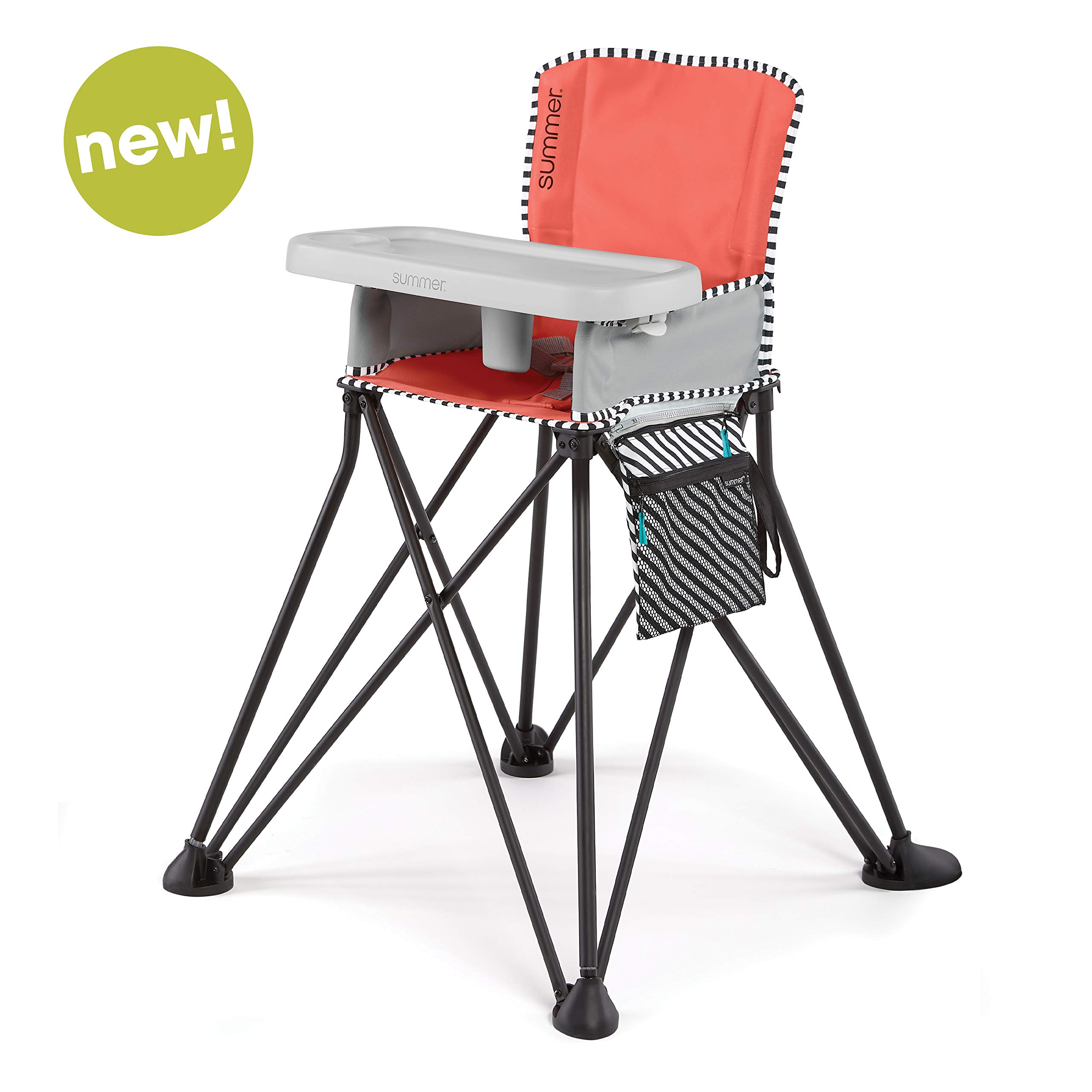 Summer Pop 'n Dine SE Highchair, Sweet Life Edition, Mango Melon Color - Portable High Chair for Indoor/Outdoor Dining - Space Saver High Chair with Fast, Easy, Compact Fold, for 6 Months - 45 Pounds