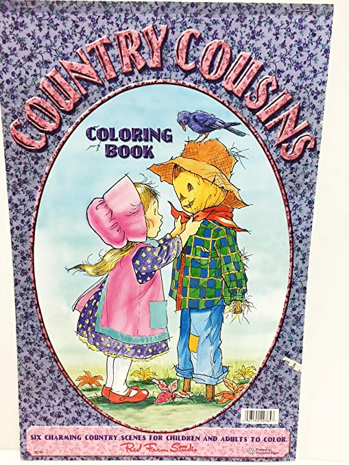 Amazon.com: Red Farm Studio Jumbo Country Cousins Coloring Book ...