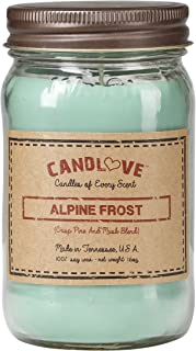 "product image for Candlove ""Alpine Frost"" Scented 16oz Mason Jar Candle 100% Soy Made in The USA"