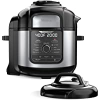 Ninja FD401 Foodi 8-Quart 9-in-1 Deluxe XL Pressure Cooker, Air Fry, Crisp, Steam, Slow Cook, Sear, Saute, Bake, Roast…