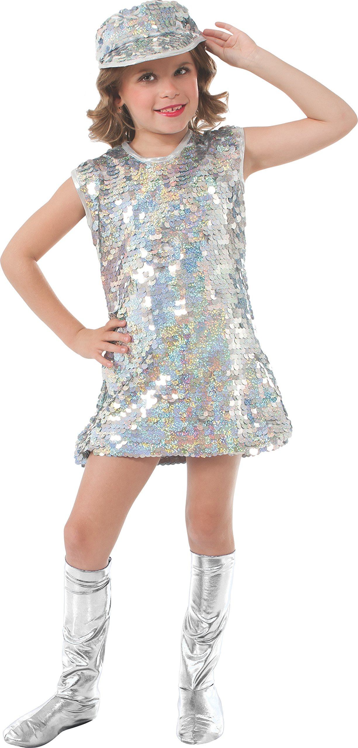 Rubie's Silver Mod Girl Costume, Child Small