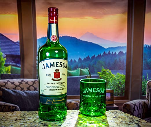 Amazon.com: Jameson Whisky vidrio Rocas Premium – upcycled ...