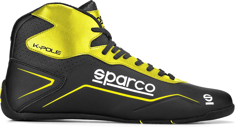 Sparco Kart Shoes K-Pole Size 47 Black//Flu