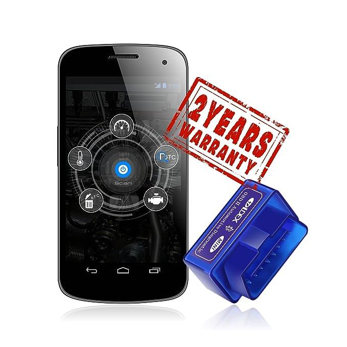 Ldex OBD-II OBD2 Interfaz (Solo para android) para android herramienta de análisis de diagnóstico Bluetooth 2.0: Amazon.es: Coche y moto