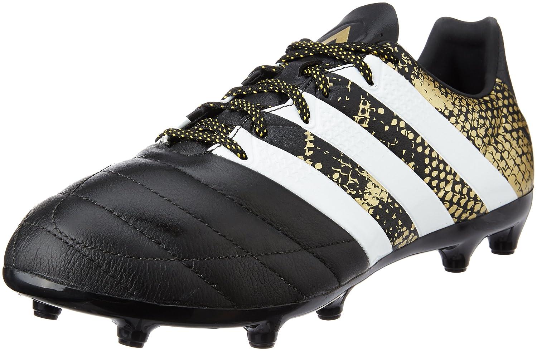 Adidas Ace 16.3 FG Leather, Botas de Fútbol para Hombre 40 2/3 EU|Negro (Negbas / Ftwbla / Dormet) Negro (Negbas / Ftwbla / Dormet)