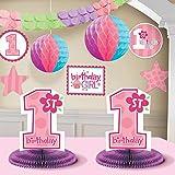 CelebrateExpress 1st Birthday Girl Decorating Kit Party Supplies