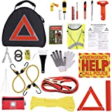 Thrive Car Emergency Kit with Jumper Cables + First Aid Kit | Auto Emergency Kit & Car Accessories | Roadside Vehicle Assista
