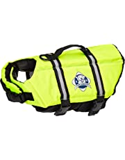 Paws Aboard PAW1300 Small Designer Doggy Life Jacket, Neon Yellow