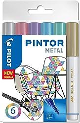 """PILOT PINTOR F - 6er Set """"Metallic"""""""