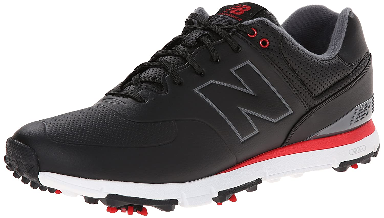 New Balance Men's NBG574 Spiked-M, schwarz rot Weiß, 10 10 10 4E US ef0340