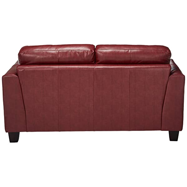 Samuel Leather Loveseat Red