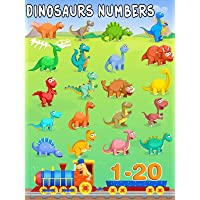 Dinosaurs Learning Numbers Counting from 1-20 - Dinosaurs Number Train Video For Kids