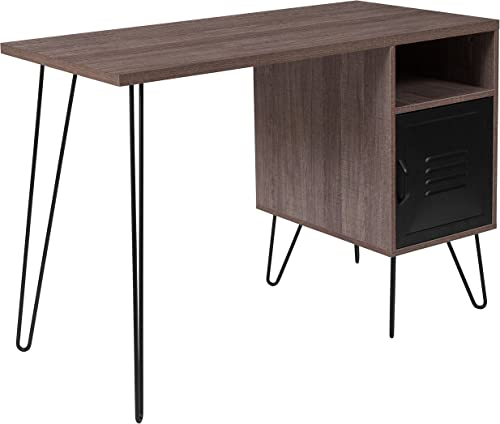 Flash Furniture Woodridge Collection Rustic Wood Grain Finish Computer Desk