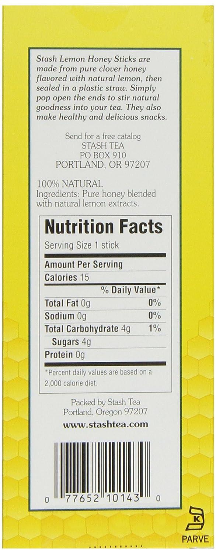 Amazon.com : Stash Tea Lemon Honey Sticks, 20 Count Stick, net wt ...