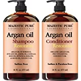 Amazon Price History for:Majestic Pure Argan Oil Shampoo & Conditioner Set, Sulfate Free, Vitamin Enriched, Volumizing & Gentle Hair Restoration Formula for Daily Use, For Men and Women, - 16 fl oz each