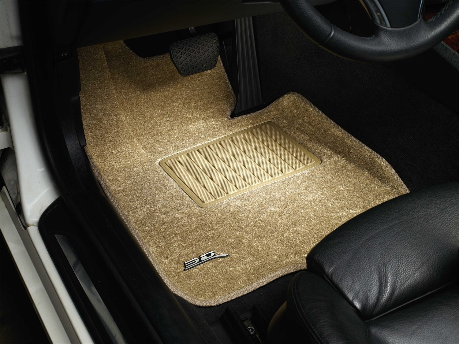 Black Classic Carpet 3D MAXpider Complete Set Custom Fit Floor Mat for Select Pontiac Vibe Models L1PA00102209