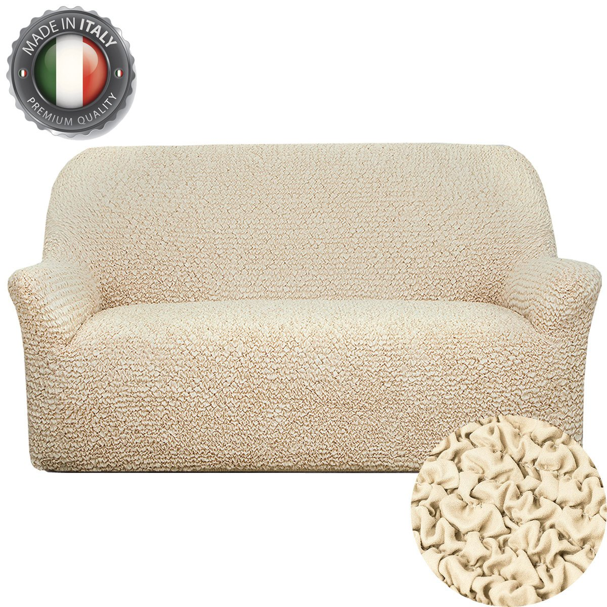 Couch Cover - Stretch Sofa Slipcover Furniture Protector - 1 Piece Form Fit Sofa Protector - Stretch Loveseat Couch Covers For Dogs - Sofa Slipcovers Set - Pet Couch Slipcover - Elastic Microfiber Cotton Polyester - Fits All Kind Of Sofa - Italy (Chair, Va