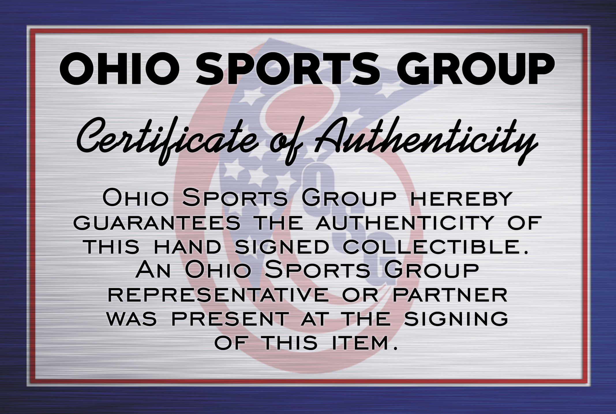 Jim Tressel Autographed Ohio State Buckeyes 8x10 Photograph Certified Authentic Autographed Photos
