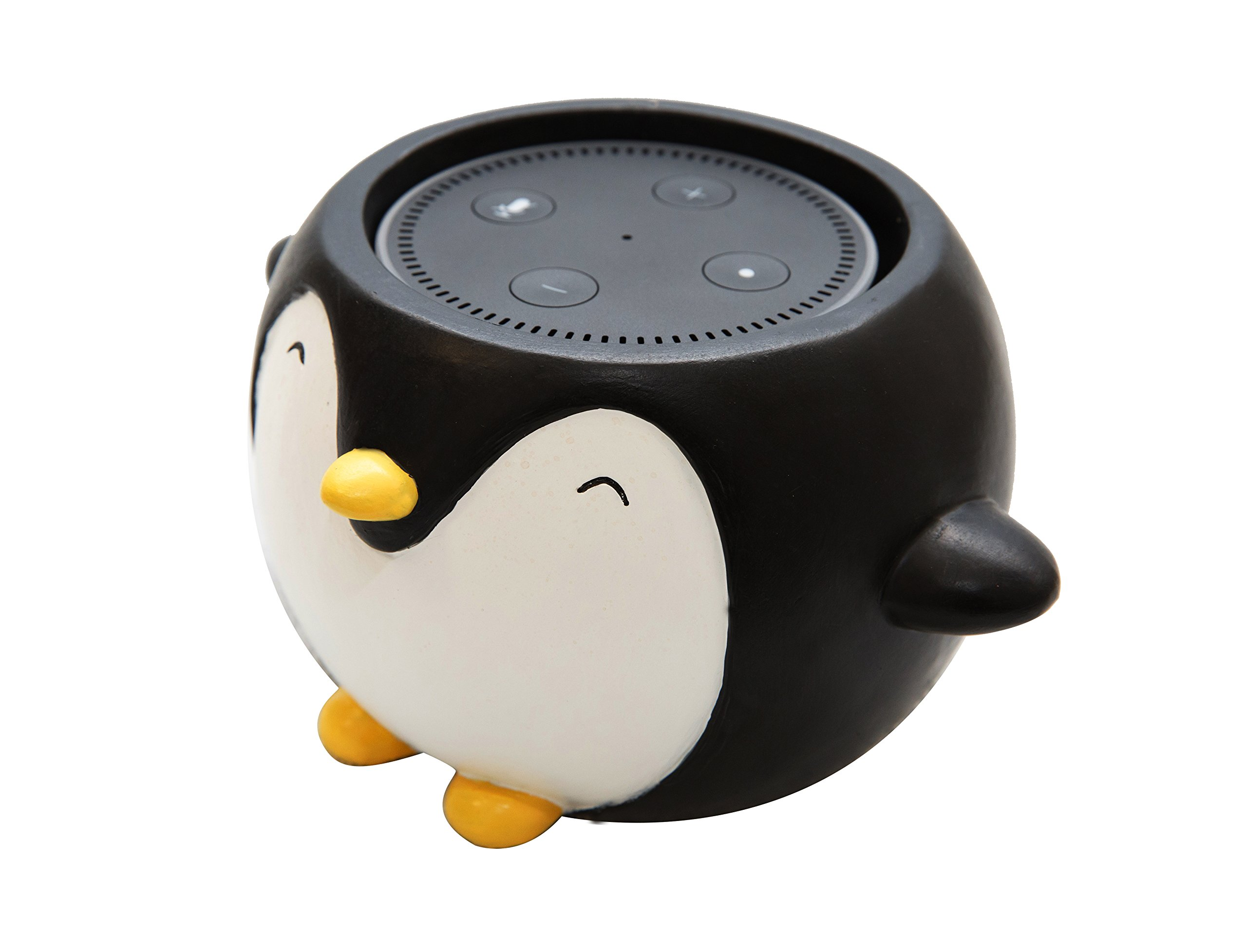 Penguin Holder Stand Mount for Alexa Echo Dot, Bose, Anker, Home Mini round speakers Accessories (Penguin Theme)