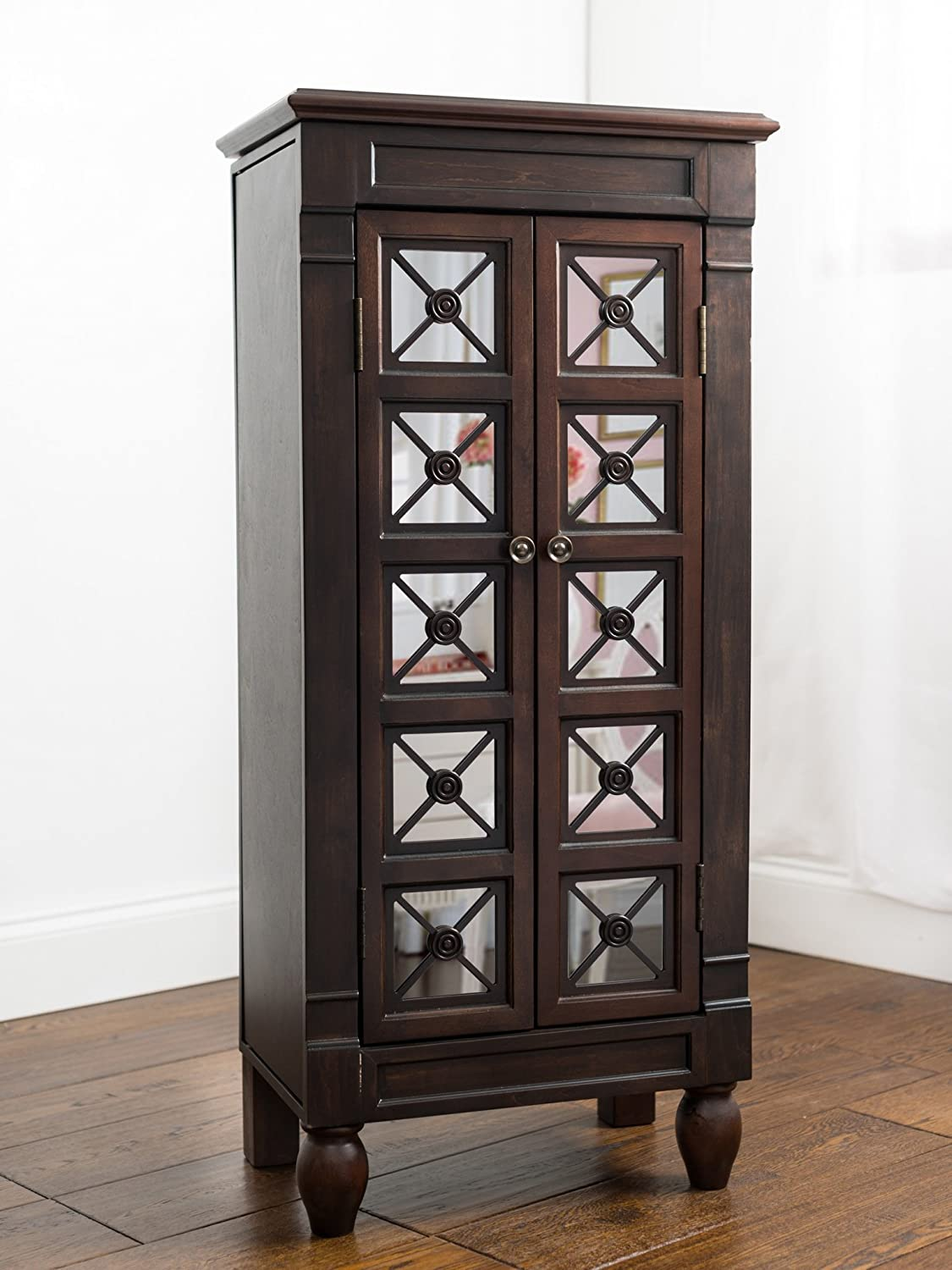 Hives and Honey Kelly Espresso Jewelry Armoire Jewelry Stand Jewelry Chest Hives & Honey 1004-412