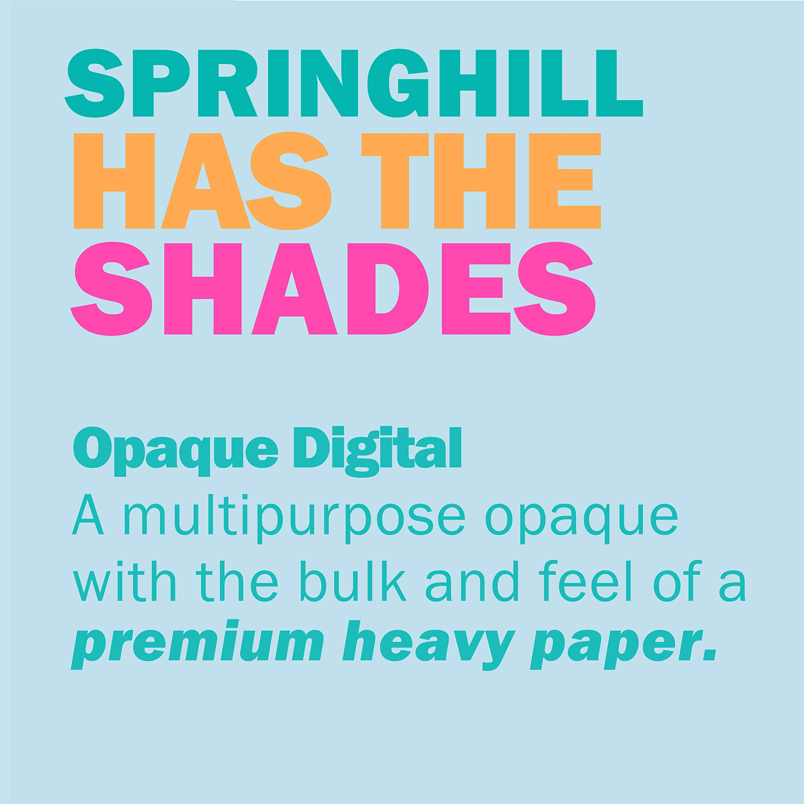 Springhill Colored Paper, Heavy Paper, Ivory Paper, 24/60lb, 89gsm, Ledger, 11 x 17, 4 Reams / 1,000 Sheets - Opaque, Thick Paper (024049C) by Springhill (Image #7)
