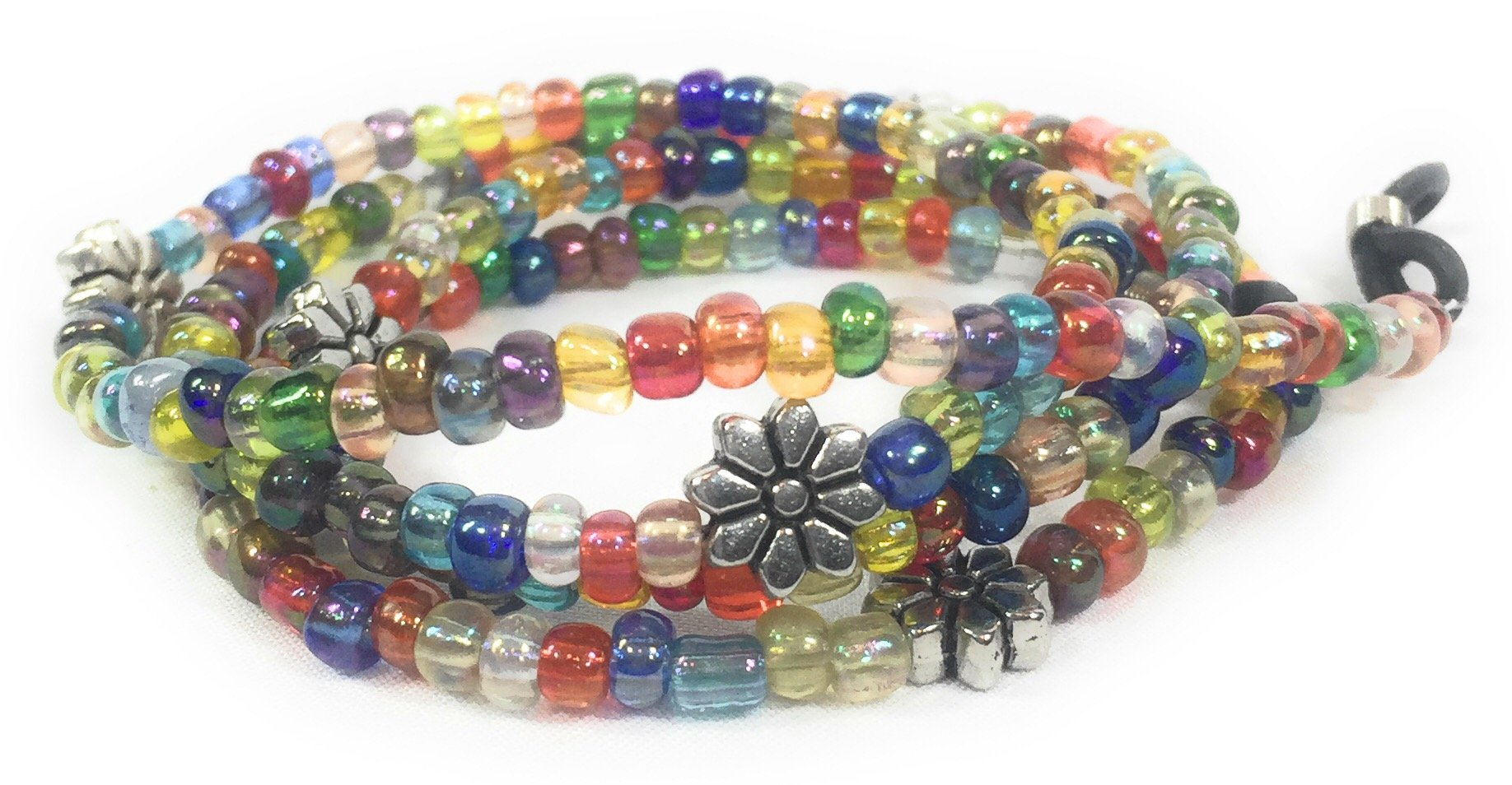 Multicolored and Flower Beaded Glasses Chain for Women - 28 Inches