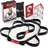 Yoga EVO Stretching Strap with Handling Loops + Tutorials: eBook & 35 Online Stretch Video Exercises. Avoid Injury with our Flexible Strap