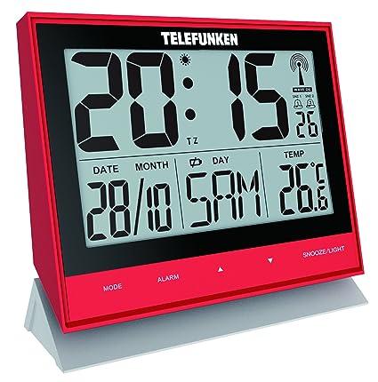 Telefunken FUX de 500 (R) XXL de LCD de radio despertador/Reloj de