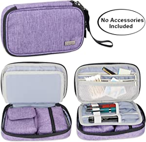 Luxja Diabetic Supplies Travel Case, Storage Bag for Glucose Meter and Other Diabetic Supplies (Bag Only), Purple