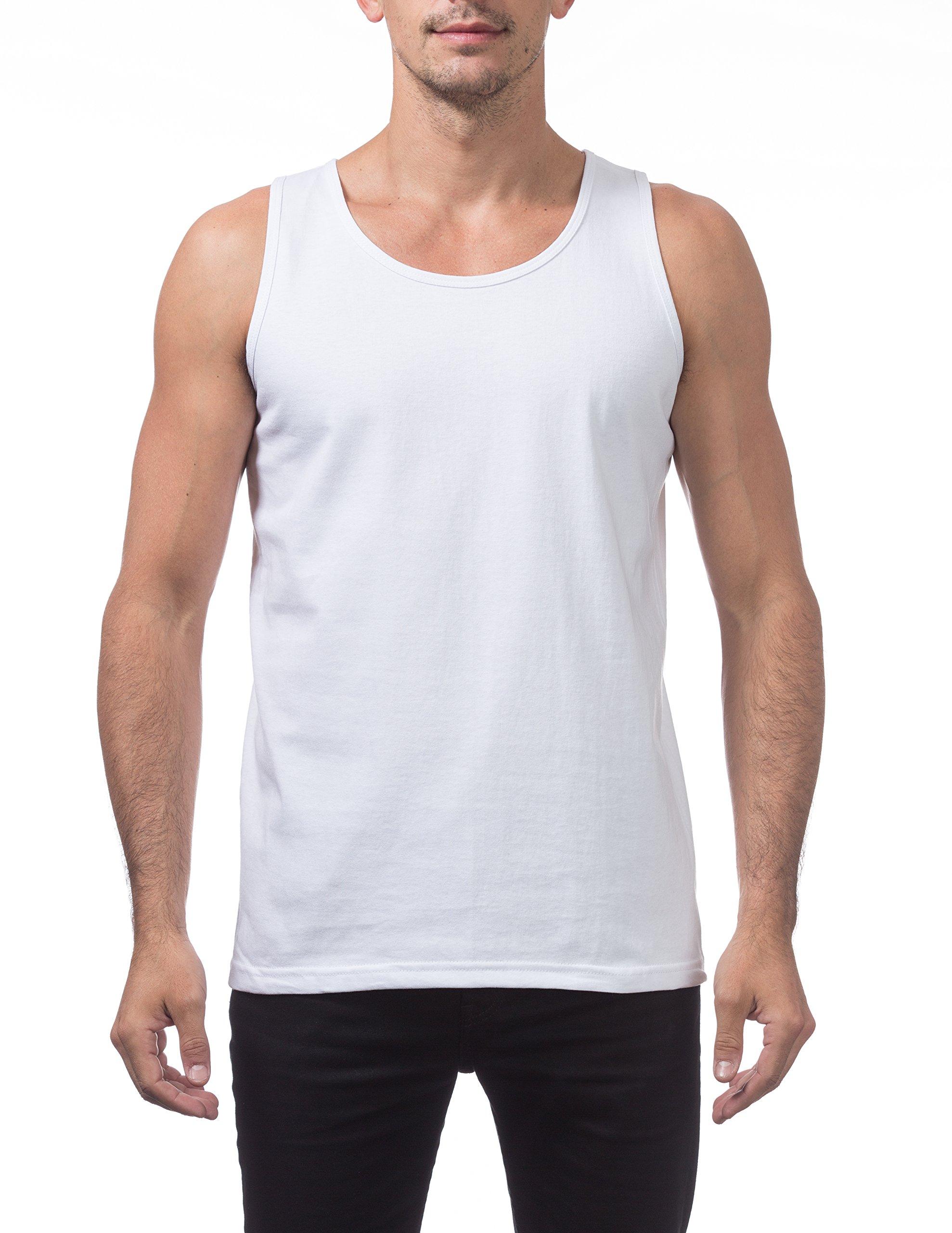 Pro Club Men's Heavyweight Cotton Tank Top Outerwear, 2X-Large, Snow White