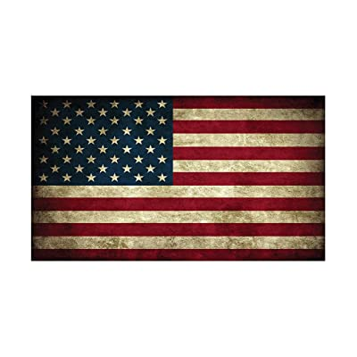 USA Flag Sticker Rustic Bumper Sticker Car Decal Gift Patriotic American Worn United States (3x5): Automotive