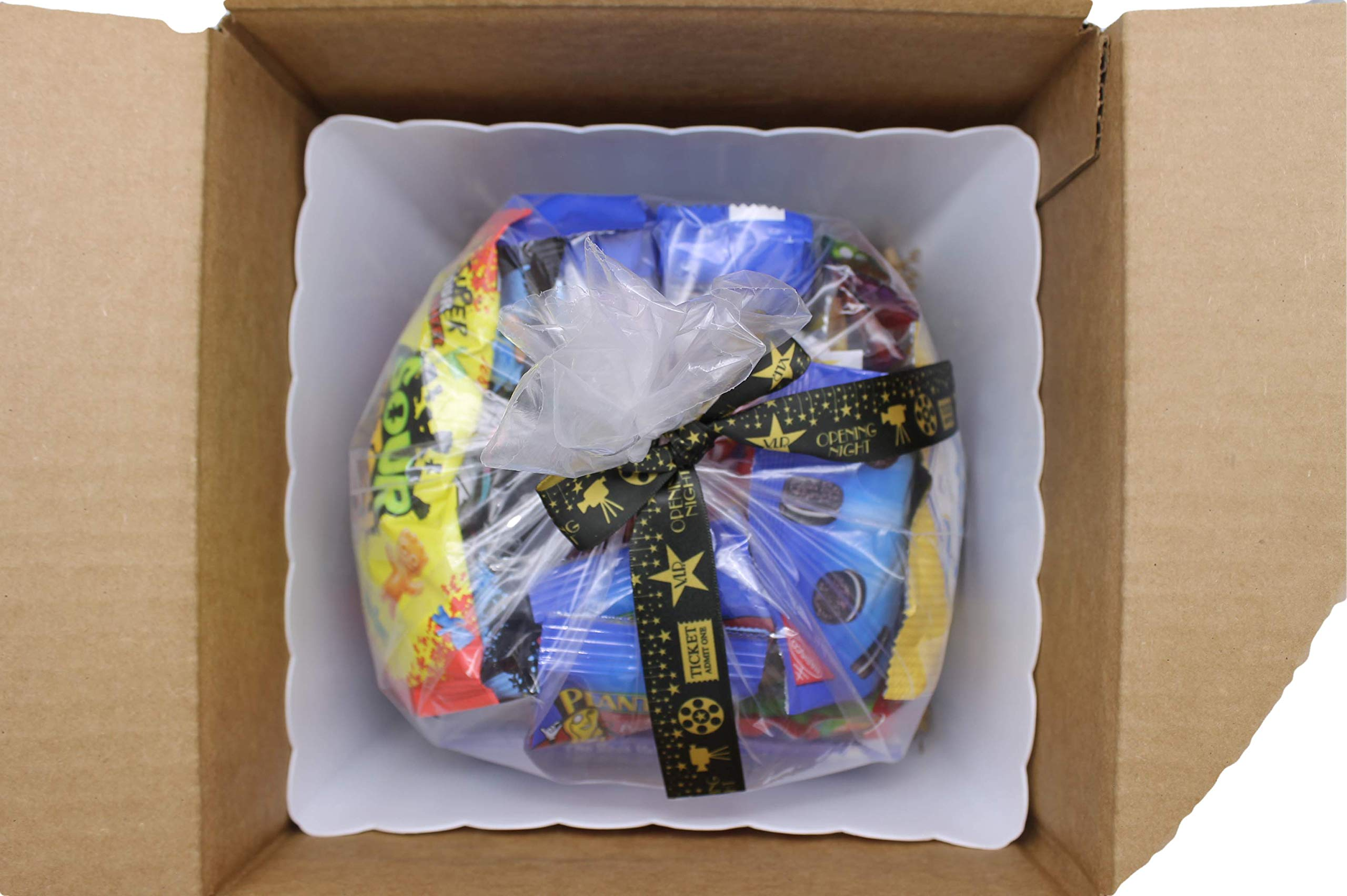 MOVIE NIGHT GIFT BASKET 30 Of Your Favorite Popcorn, Candy Cookies Crackers Perfect Birthday Box Holiday Surprised College Care Package Kids Party Family Movie Night Or A Special Date Night by Tiny Timz (Image #8)