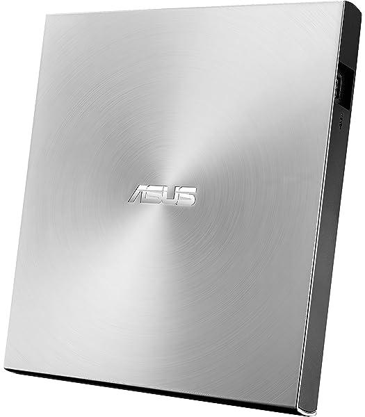 ASUS ZenDrive U9M SDRW-08U9M-U - Unidad de Disco óptico (8X, USB Tipo C + Tipo A, Compatible con Mac, 13.9 mm ultradelgada, compatibilidad con M-Disc, encriptación de Disco, E-Green, E-Media), Plata: Asustek: