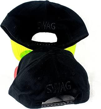 SWAG Negro gorras de Snapback, transparente plana pico Dope sábana ...