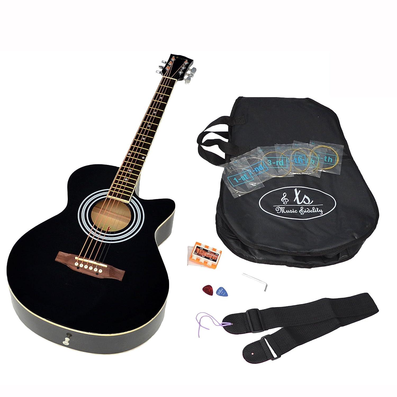 ts-ideen 4/4 Akustik Westerngitarre Schwarz 4551