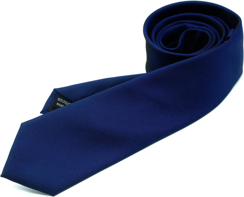 ZENXUS Skinny Solid Neckties 4-PAK 2/½Slim Ties Lavender//Carnatio//Aqua//Emerald