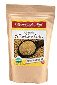 War Eagle Mill Yellow Corn Grits, Organic and non-GMO, stone-ground in the Ozarks (2 lbs)