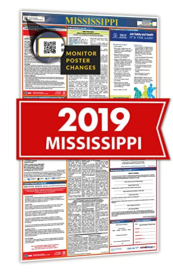 Amazon.com: 2018 Mississippi todo en uno Labour law carteles ...