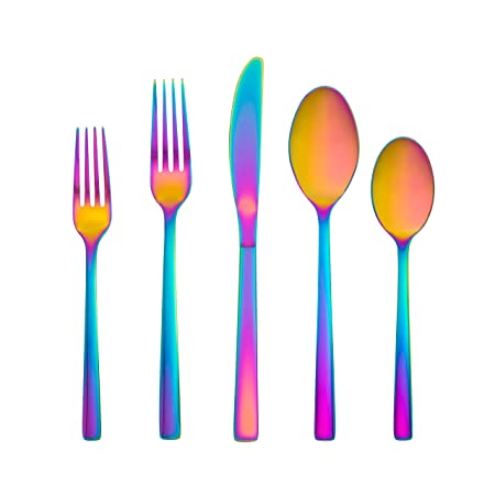 Cambridge Silversmiths 500520 R Cortney Flatware Set, Rainbow by Cambridge Silversmiths