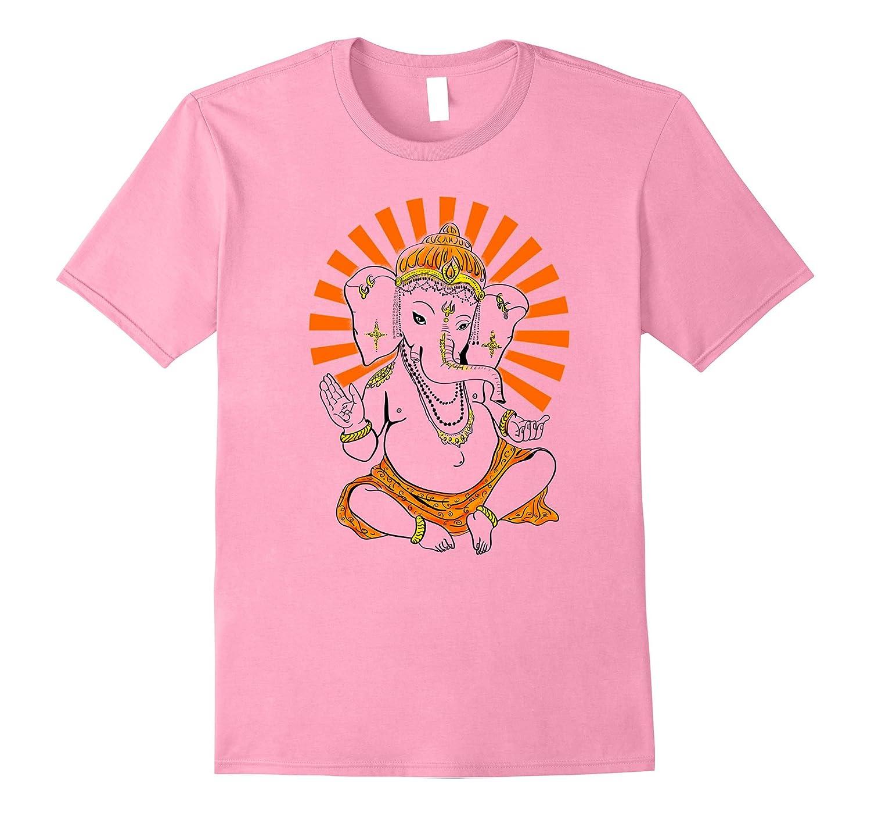 ganesha yoga buddha india hindu shanti Funny T-Shirt-Vaci
