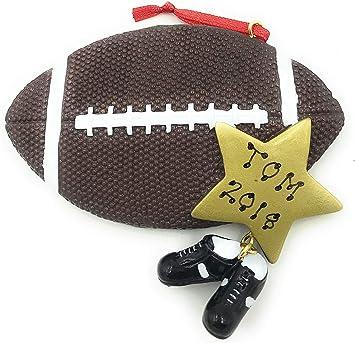 Any Football On Christmas 2020 Amazon.com: Personalized Sports Football Ball Christmas Ornament