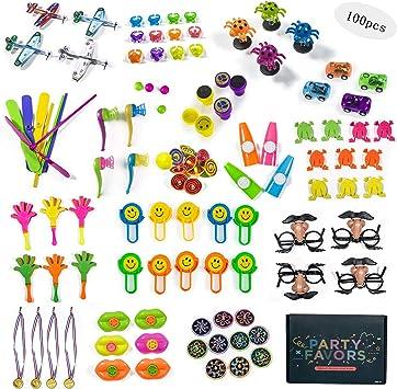 Jolintek 100PCS Assortimenti di Giocattoli per Bambini,Bomboniere per Feste Forniture per Ragazza Ragazzo Regalo di Compleanno Borse Bambini Premio