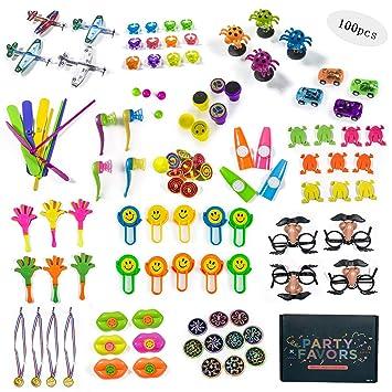 Jolintek Juguetes de Fiesta a Granel 100 Pcs Juguetes de Piñata y Bolsas de Regalo para niños Rellenar Piñatas cumpleaños Partido Regalos o para el ...