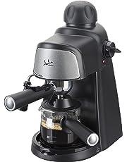 Jata CA704 Cafetera Hidropresion 800 W, 0.35 litros, 0 Decibeles, Plástico, NEGRO Y PLATEADO