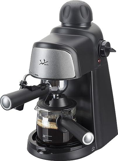 Jata CA704 Cafetera por hidropresión. Para 2-4 cafés expresso. 3,5 bar 4 posiciones. Filtro de acero inoxidable. Con diseño compacto para almacenar de maner sencilla ...