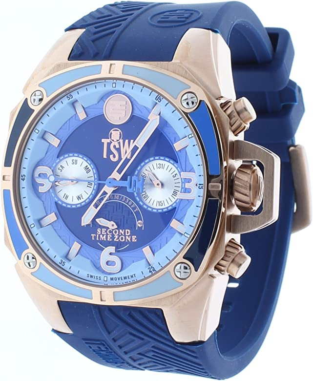 Technosport (TSW) TS-100-LIFE2 Womens Watch Navy Blue Strap Swiss Multifunction