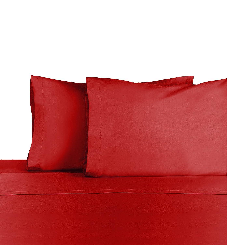 Martex Cotton Rich Bed Sheet Set - Brushed Cotton Blend, Super Soft Finish, Wrinkle Resistant, Quick Drying,Bedroom, Guest Room- 4-Piece FullSet, Paprika