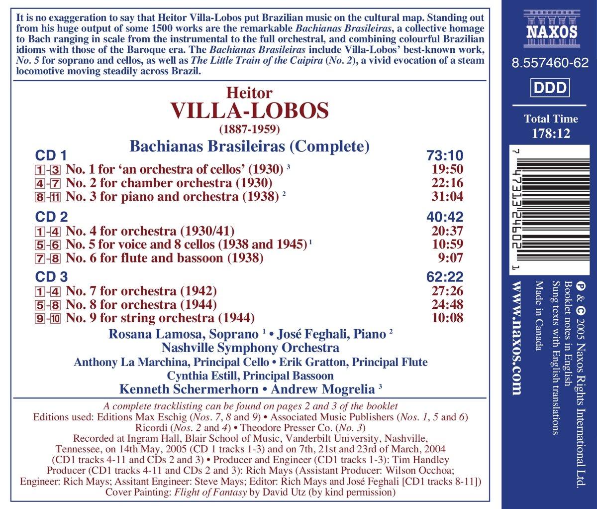 Villa-Lobos:  Bachianas Brasileiras (Complete) by Naxos