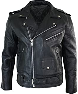 Veste de Moto Brando Motard Cuir véritable Peau de Vache Fermeture  asymétrique Classique Homme 262234ba524